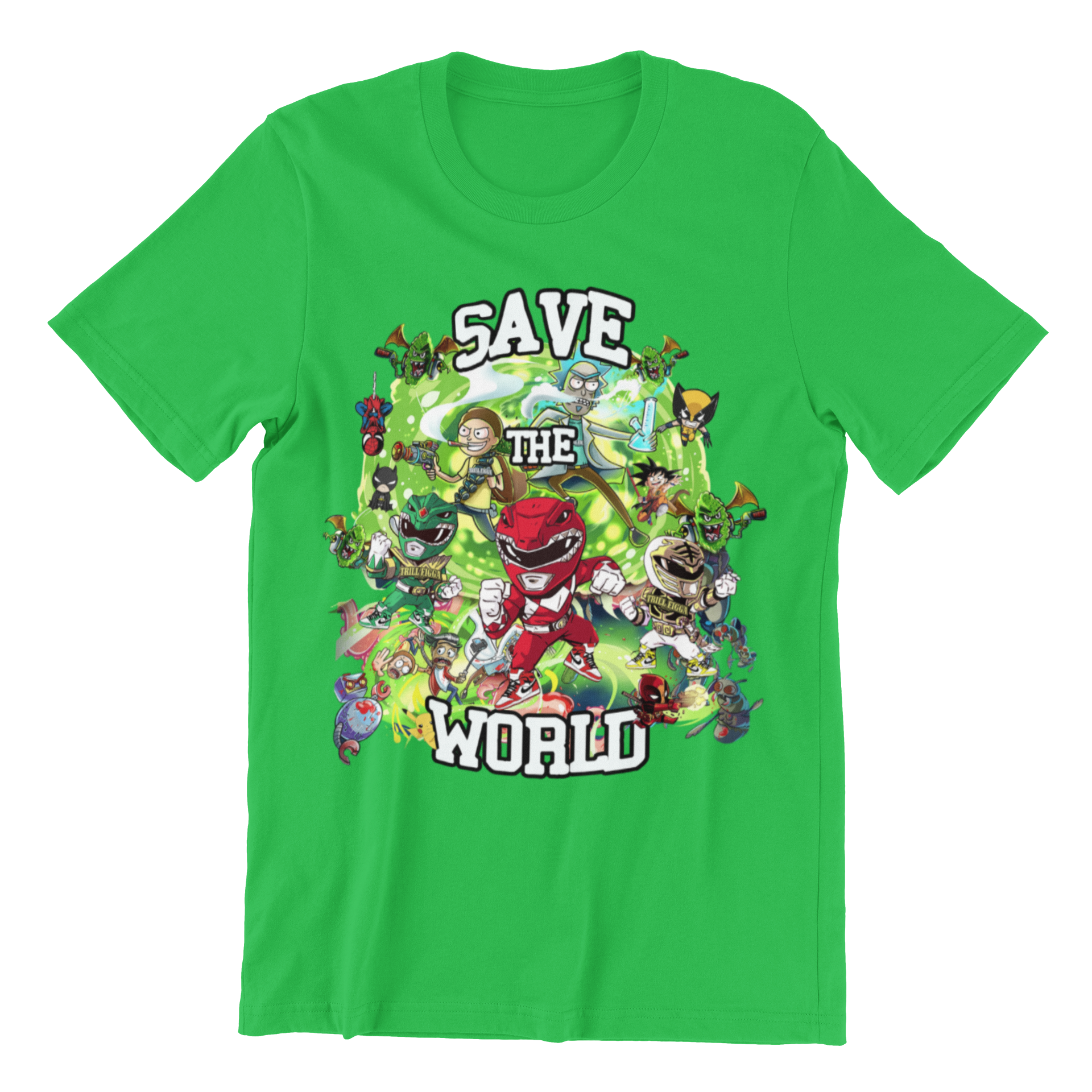 "Kid's ""Save the World"" Tee (Green)"