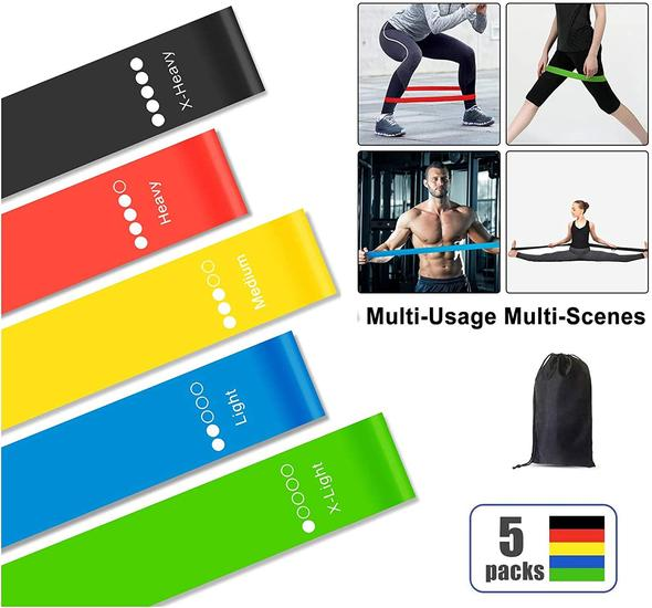 Fitness Resistance Band Set (5 pack)
