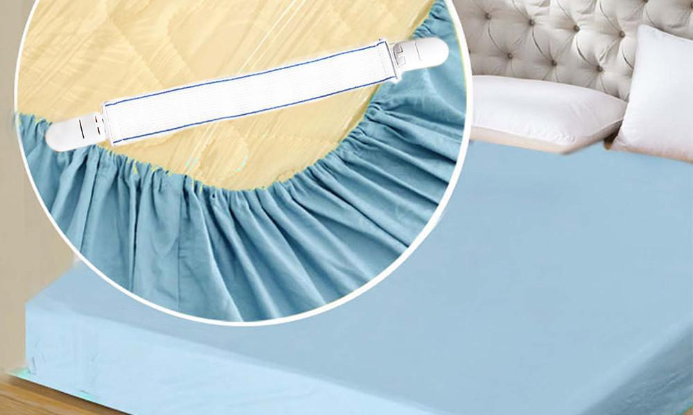 Bed Sheet and Ironing Board Cover Clips (4 Clips)
