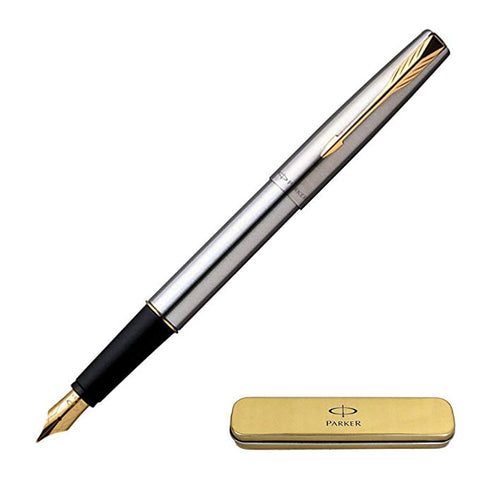 Parker Frontier Stainless Steel Fountain Pen GT