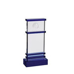 Accented Blue Jupiter Golf Trophy Award