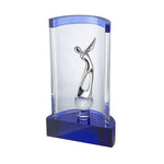 Golf Champions Clear & Blue Crystal Award