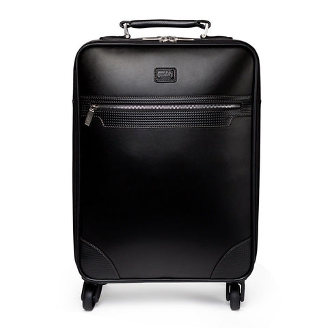 Condotti Leather Trolley Roller Case