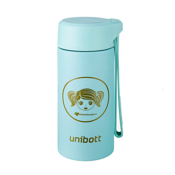 Unibott Deb's Daughter Baikal Series 200 ml Vacuum Insulated Thermal Water Bottle, BPA Free Stainless Steel (VB215A)