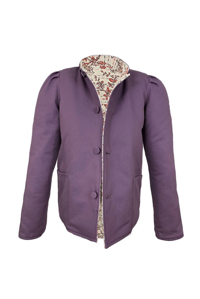 Coral Cherry Blossom & Purple Magic Jacket