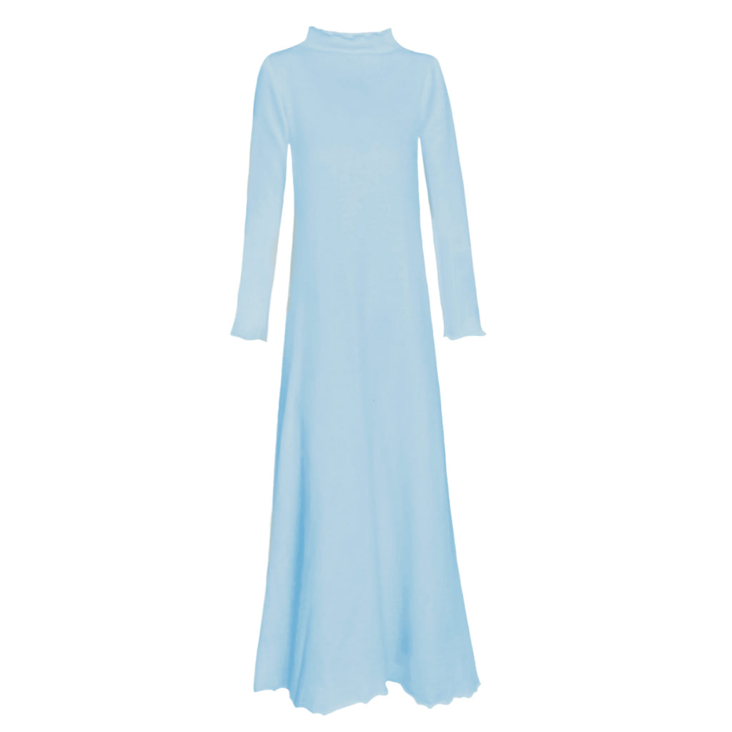 Lounge Dress in Winter Blue French Terry