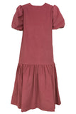 Dusty Rose Corduroy Eugenie Dress