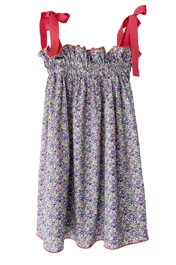 Kids' Purple Ditsy Floral Jaime Dress