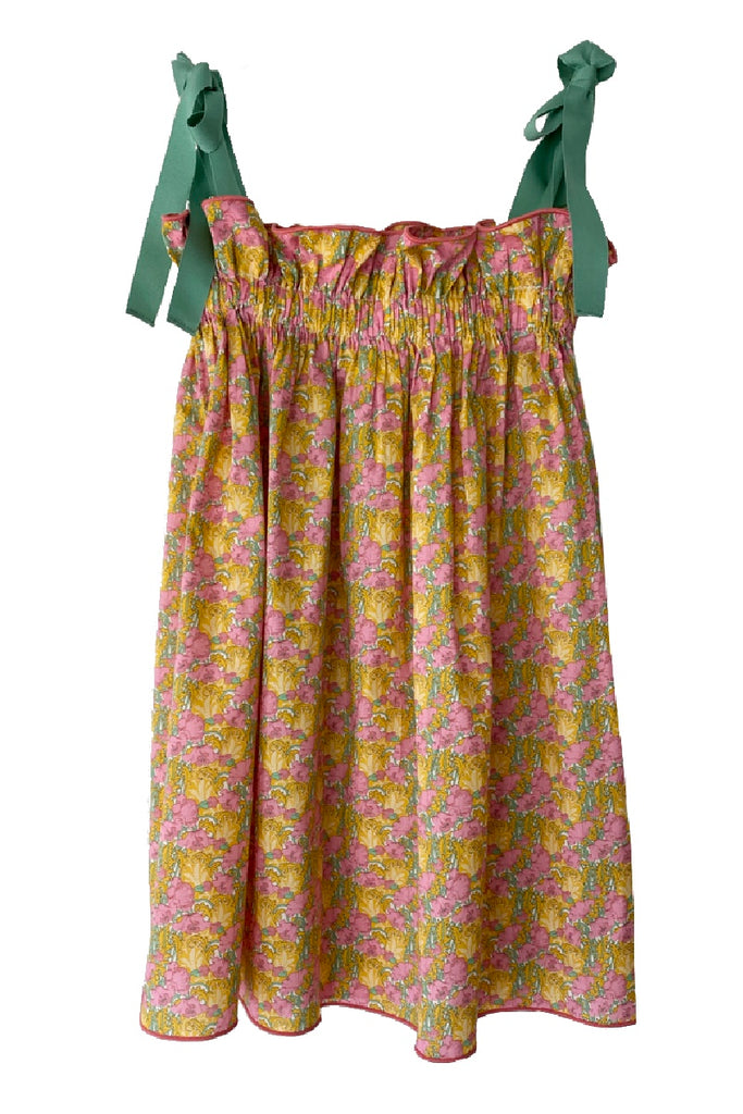 Kids' Pink & Gold Floral Jaime Dress