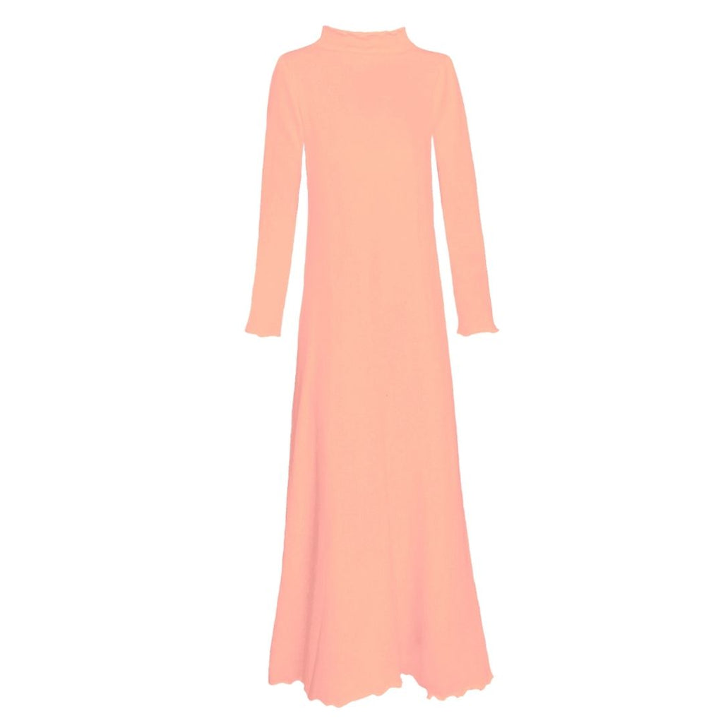 Lounge Dress in Salmon French Terry