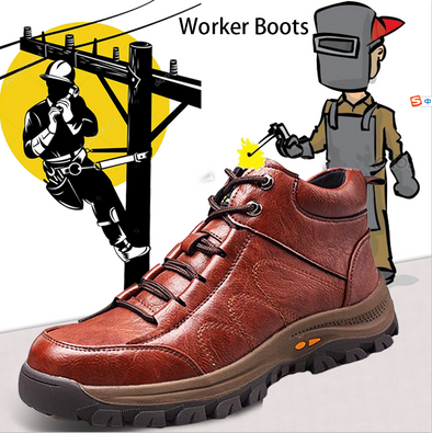 Electrician & Electric welder Steel Toe Safety Leather Work Boots
