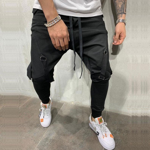 Side Big Pocket Joggers Men Pants Streetwear