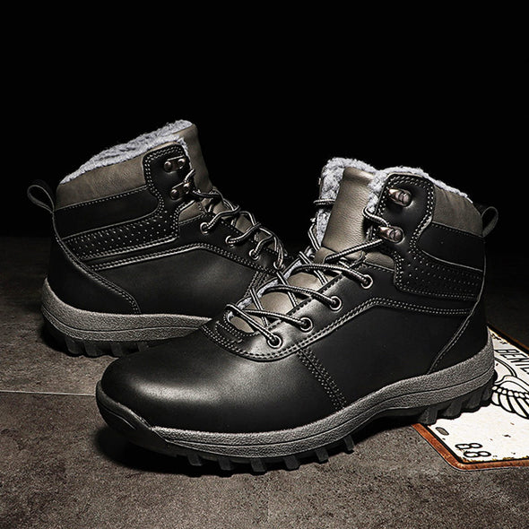 Men Winter Outdoor Leather Non-slip Snow Boots