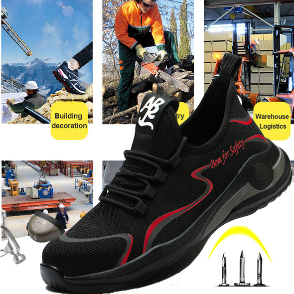 Lightweight Puncture-Proof Indestructible Safety Shoes