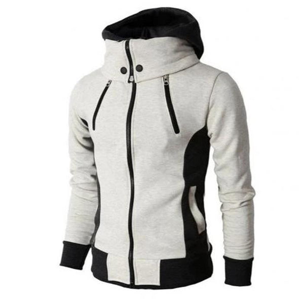 Winter Turtle Neck Long Sleeve Pockets Hoodie Jacket