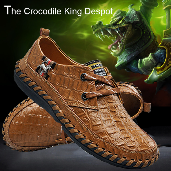New Arrival Handmade Comfortable Crocodile Style Fashion Loafers for Men