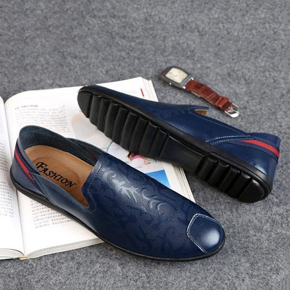 Fashion Soft Men Genuine Leather Casual Shoes