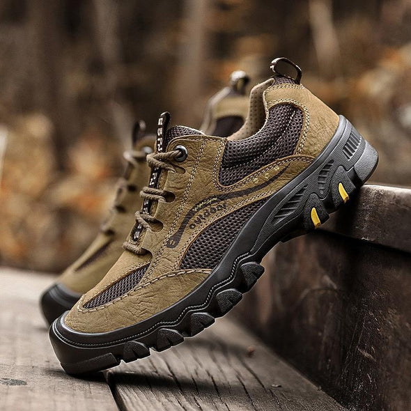 Plus Size Leather Casual Hiking Shoes