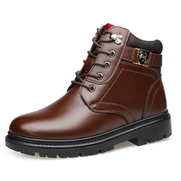 Men Pu Leather Snow Boot