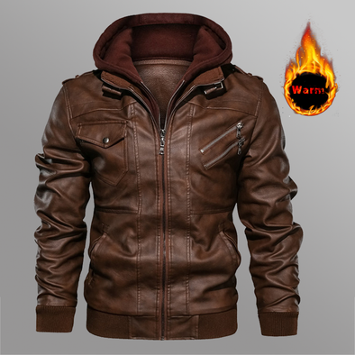 Men's Leather Jackets Autumn Casual Motorcycle PU Jacket