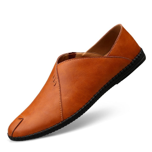 Men Leather Casual Moccasins Slip On Driving Flats Shoes