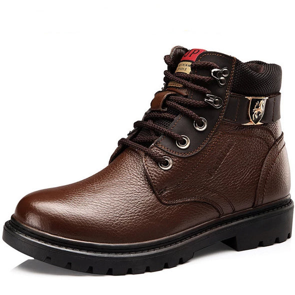 Men Winter Warm Comfortable Genuine Leather Boots