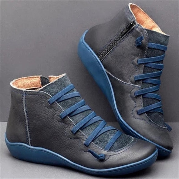 Women Vintage Comfortable Leather Ankle Boots