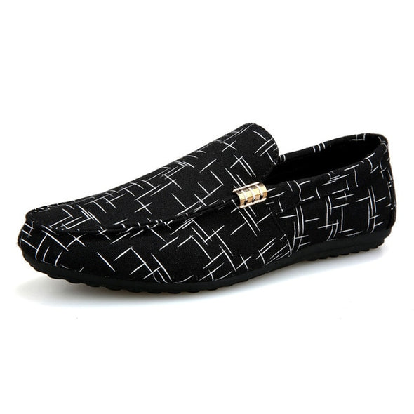Men Loafers Light Canvas Youth Breathable Fashion Flat Footwear