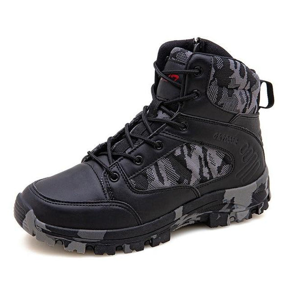 Boots Leather Hunting Trekking Camping Work Shoes