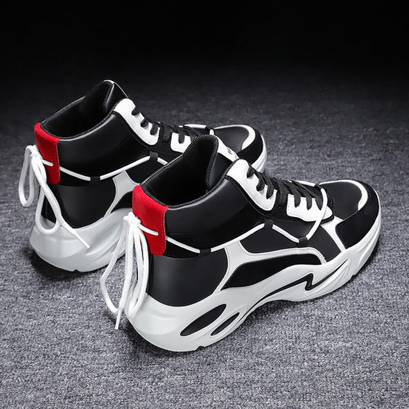 Men High Top Outdoor Chunky Non-slip Sneakers