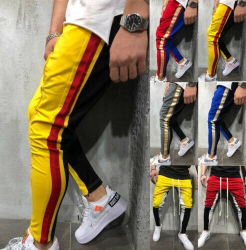 Hot Sale Fashion Skinny Jogger Patchwork Trousers