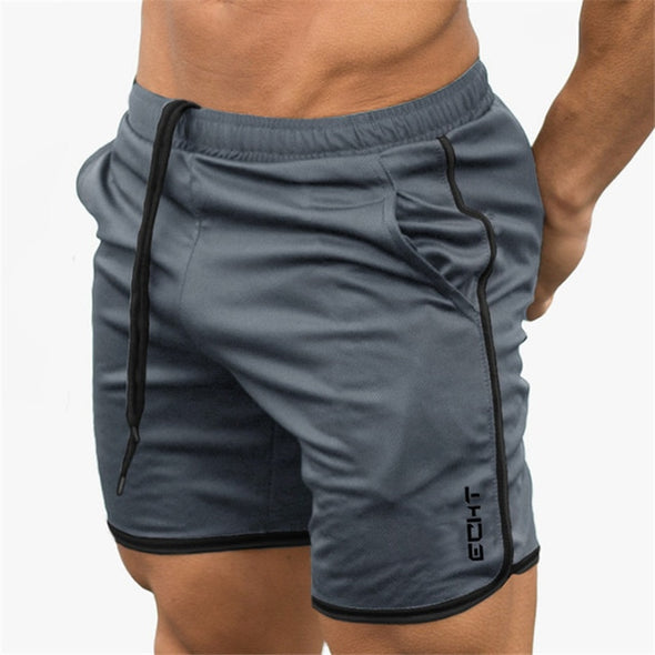 New Fitness Bodybuilding Gyms Workout Breathable Mesh Quick Dry Running Short Pants