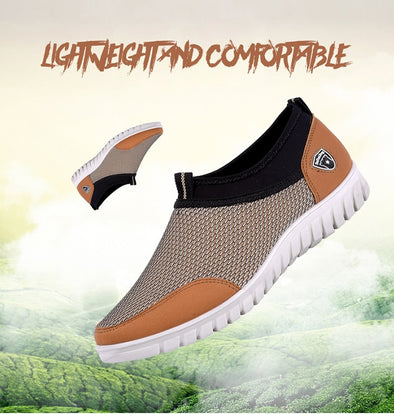 Mesh Lightweight Men Breathable Walking Casual Shoes