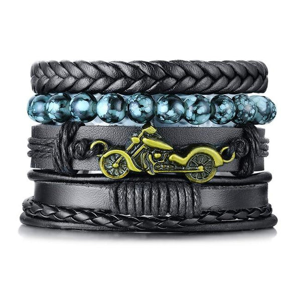 Braided Wrap Leather Bracelets Vintage Tree