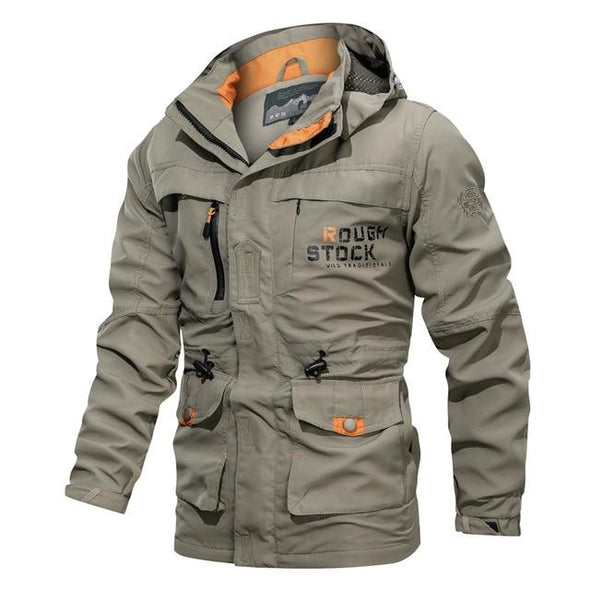 Bomber Jackets Thick Warm Multi-Pocket Jacket Cargo Coat