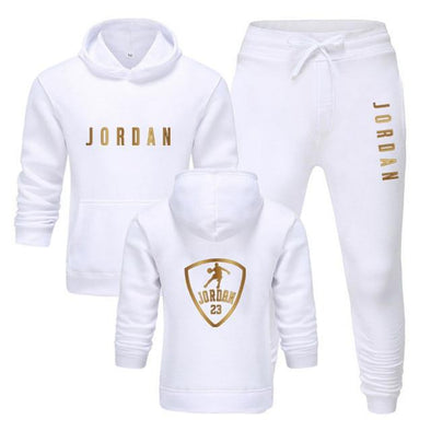 Fashion 2 Pieces Set Tracksuit Hooded Sweatshirt+pants