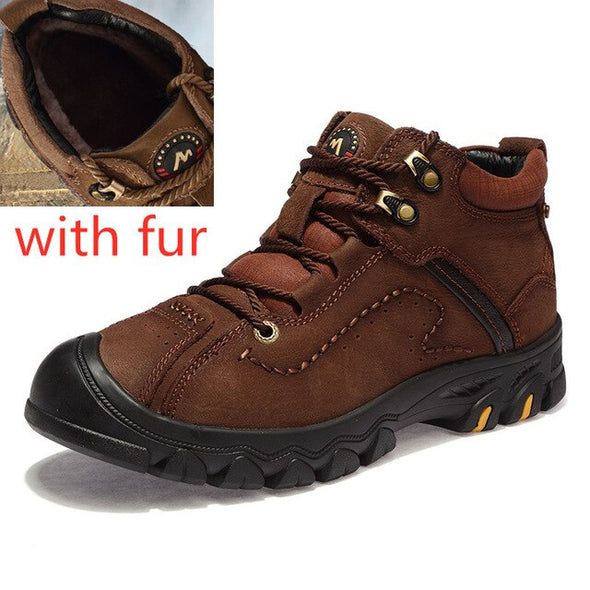 Fashion outdoor wear-resistant plush warm boots
