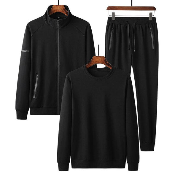 Tracksuits Casual Sportswear Mens Set 3 Pieces Casual