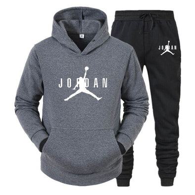 brand sportswear 2-piece hoodie + pants suit men's streetwear jacket