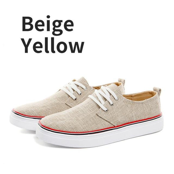 Summer Fashion Breathable Lace-up Men's Canvas Shoes