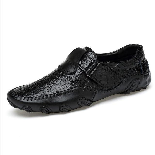 Fashion Breathable Handmade Genuine Leather Slip On Driving Moccasins Shoes