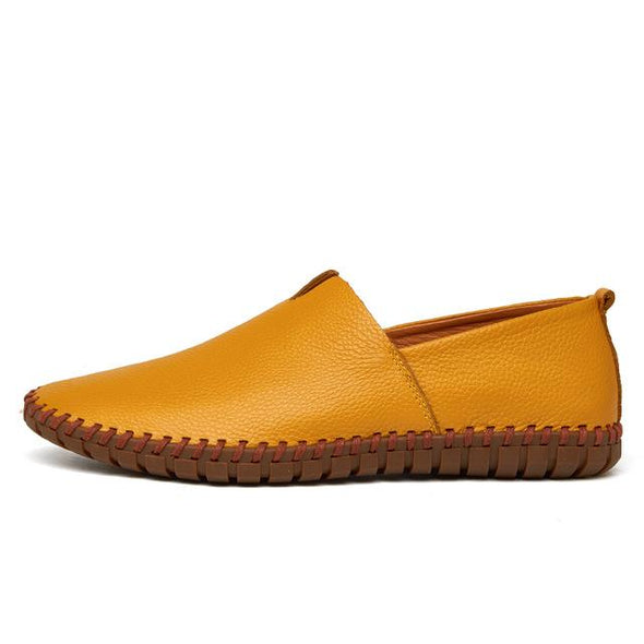 Fashion Handmade Soft Genuine Leather Moccasins Men's Casual Shoes