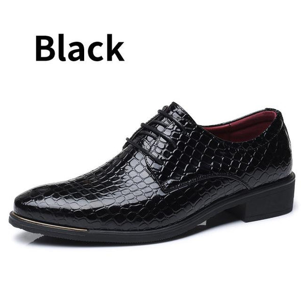 Plus Size Business Crocodile Style  Men Fashion Wedding Dress Shoes