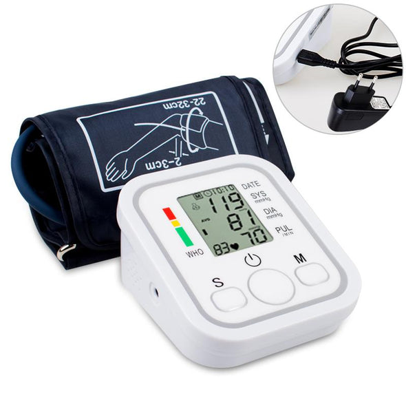 Home Healthy Care Digital Lcd Upper Arm Blood Pressure Monitor Heart Beat Meter Machine