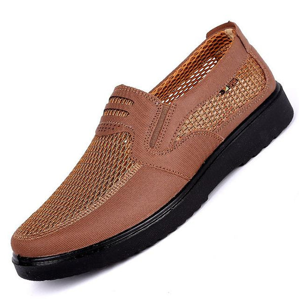 Summer Comfortable Wearing Light Weight Breathable Brand Style Mesh Flats For Men
