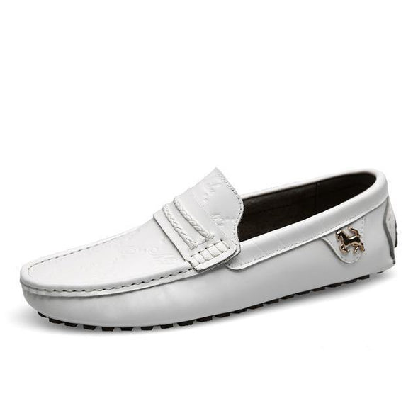 Luxury Brand Breathable Genuine Leather Slip-on Men's Casual Shoes