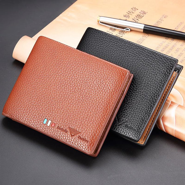Luxury PU Leather Card Holder Short Purses