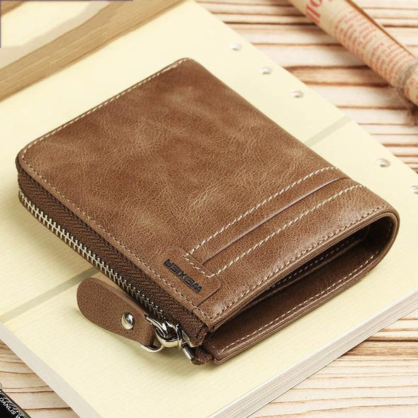 Fashion Zipper Coin Pocket Men's Wallets& Purses