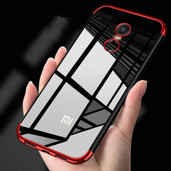 Luxury Shockproof Transparent Plating Phone Case For Xiaomi