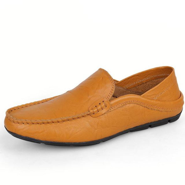 Fashion Big Size Moccasins Genuine Leather Men's Casual Shoes